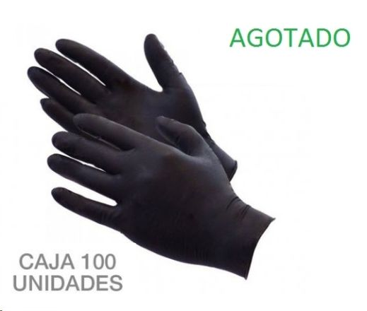 guantes nitrilo mediana k-100 negro