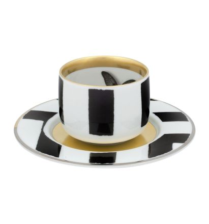 SOL Y SOMBRA TAZA CAFE C/PLATILLO BUTTERFLY 10 CL