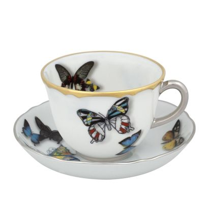 BUTTERFLY PARADE TAZA CAFE C/PLATILLO