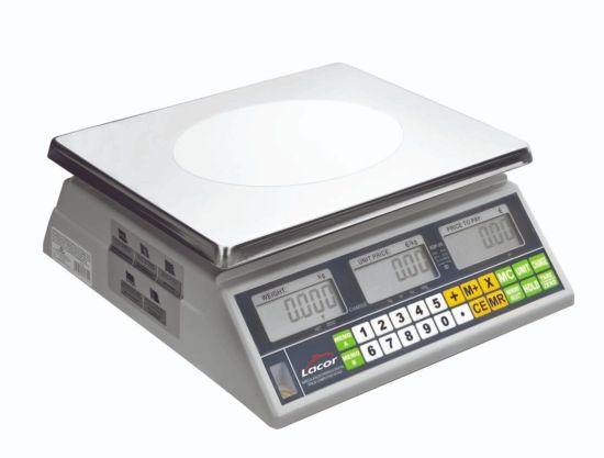 BASCULA ELECTRONICA C/BASE CUADRADA 30Kg