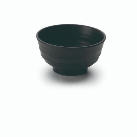BOL REDONDO MELAMINA BLACK D.12X7.5 CM