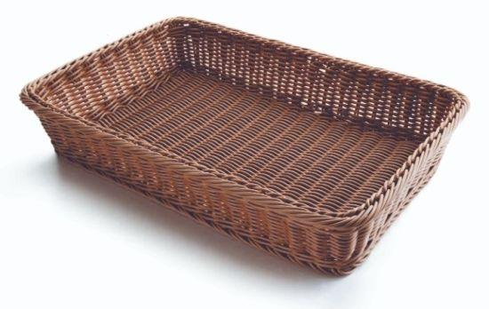 CESTA PAN RECTANGULAR MARRON 53X33,5X9