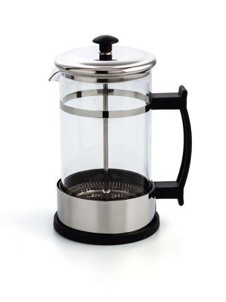 CAFETERA EMBOLO INOX 600ML SERENIA QD