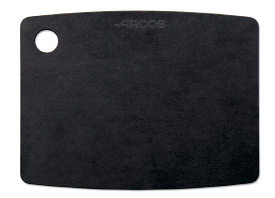 TABLA CORTE FIBRA 38X28 691710 NEGRO