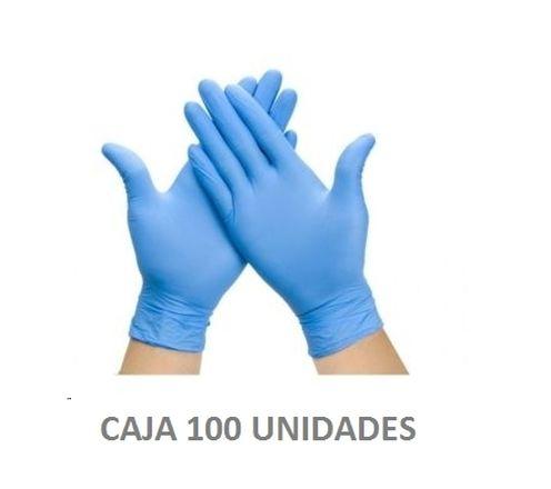 guantes nitrilo mediana k-100 sensitouch azul