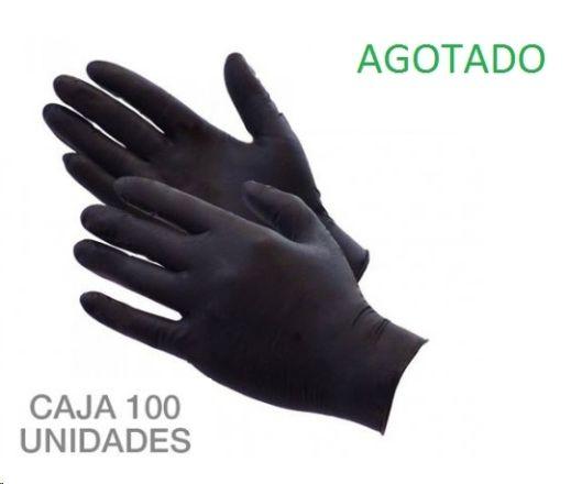 guantes nitrilo pequeña k-100 negro