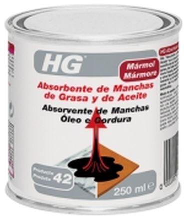 ABSORBENTE DE MANCHAS DE GRASA Y ACEITE 0,25L HG